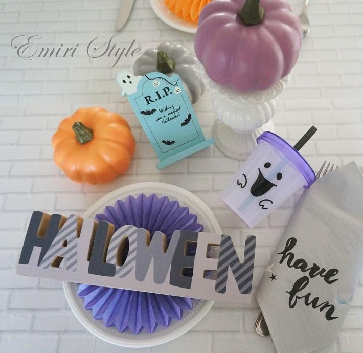 ハロウィン飾りテーブル