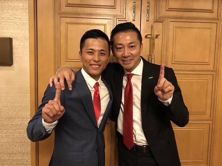 富樫選手と島田慎二前社長