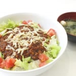 東京理科大野田キャンパス学食のタコライスとみそ汁