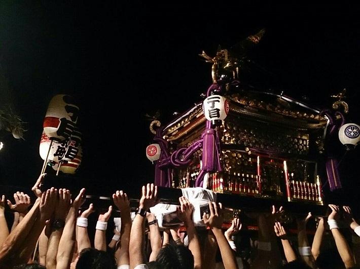 千葉県我孫子市で最も規模の大きい祭り「竹内神社例大祭」