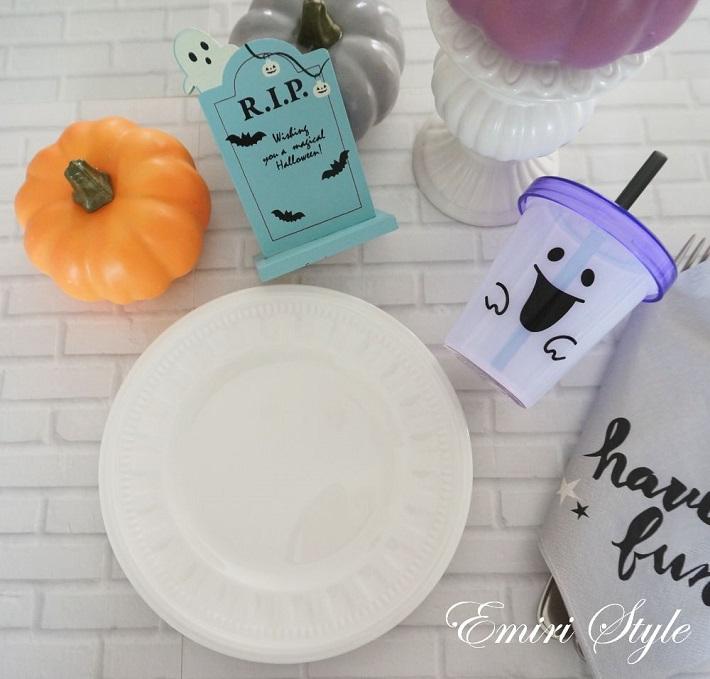 ハロウィンの食卓飾り