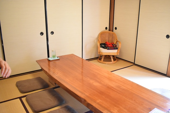 和室のカフェ