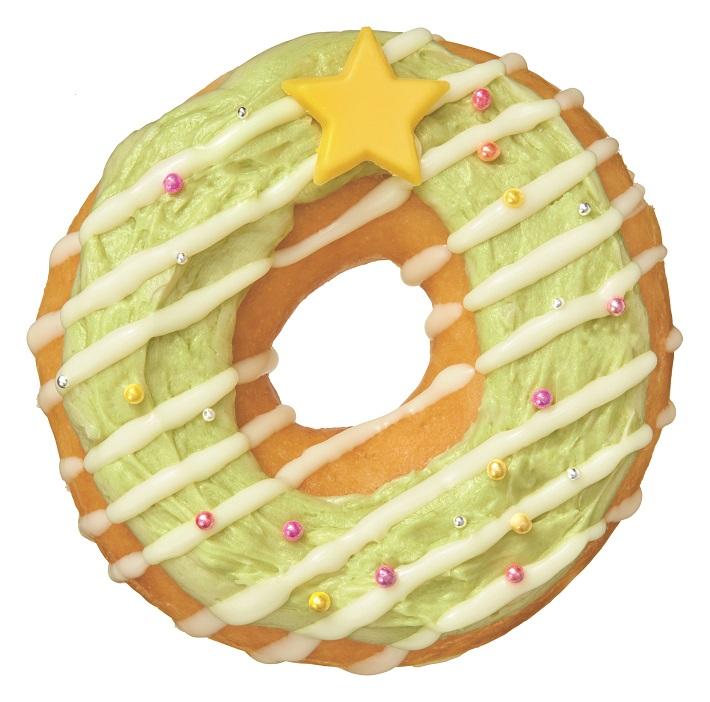 クリスマスリースのドーナツ