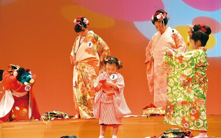 子供の部全日本きもの装いコンテストきものフェスティバル