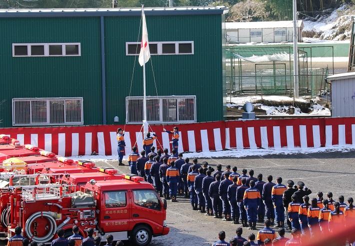 成田消防式典の様子