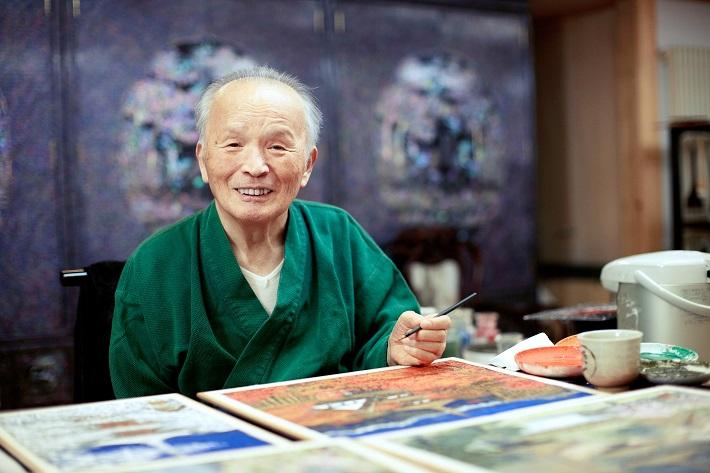 日本画家後藤純男さん