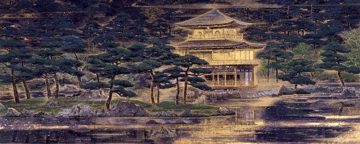 首相官邸展示作品「鹿苑寺庭園」(1990年)