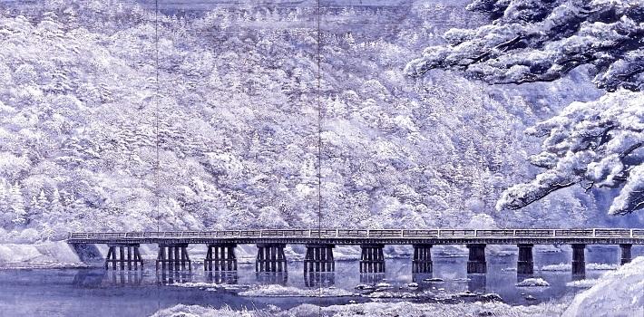 首相官邸展示作品「新雪嵐山」(1985年)