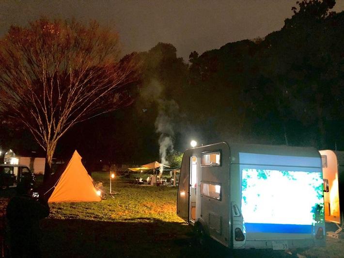 花島公園での宿泊キャンプ