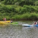 花見川でカヤック体験