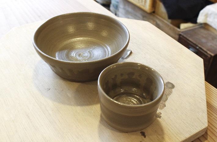 千葉陶芸工房の体験で作った作品