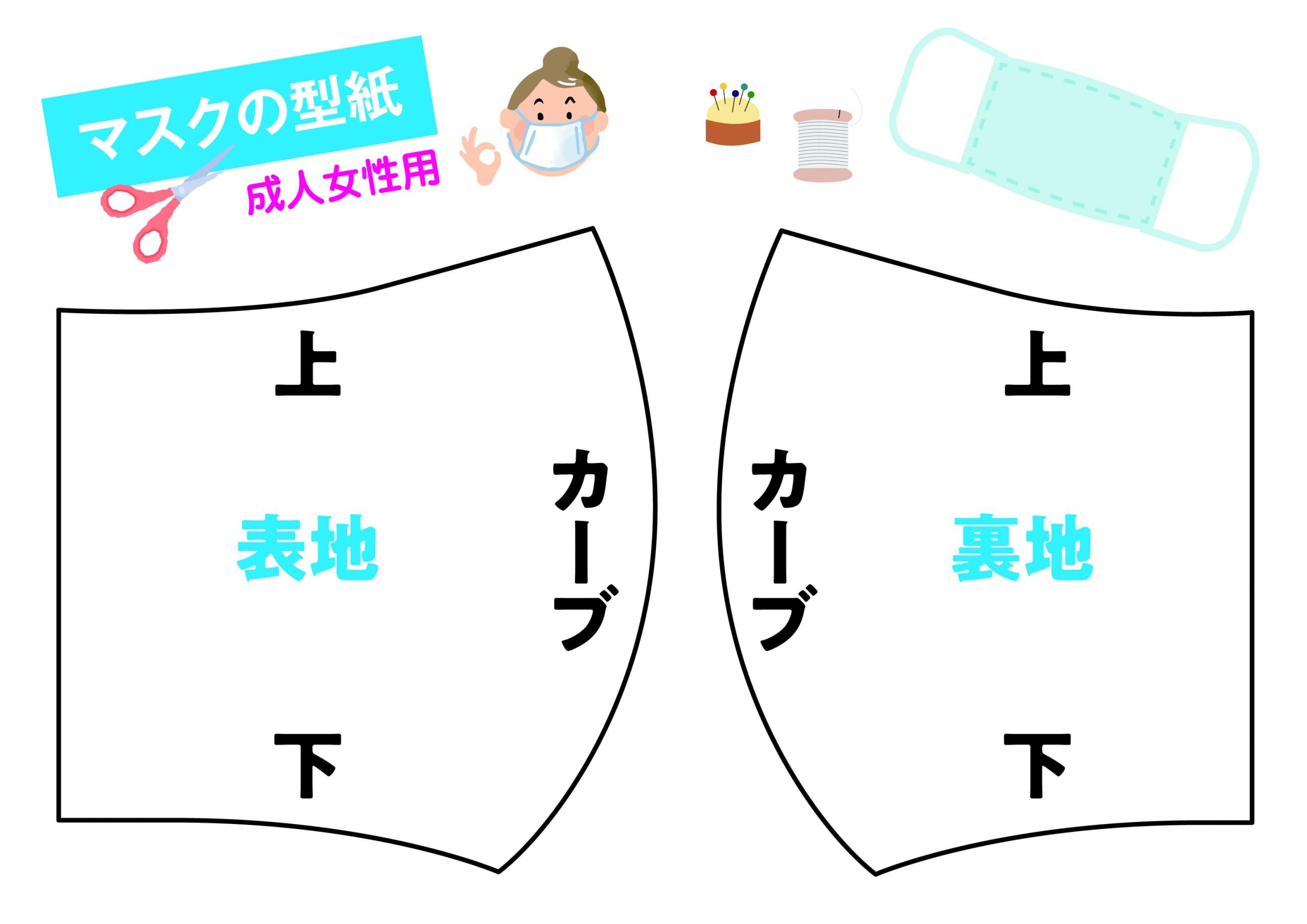手作り布マスクの型紙