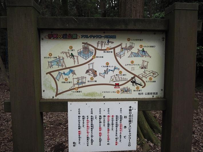 手賀の丘公園のキャンプ場とアスレチック