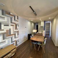 野崎邸の新築注文住宅の回遊できるリビング