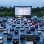 イオン幕張駐車場で開催されたドライブインシアター
