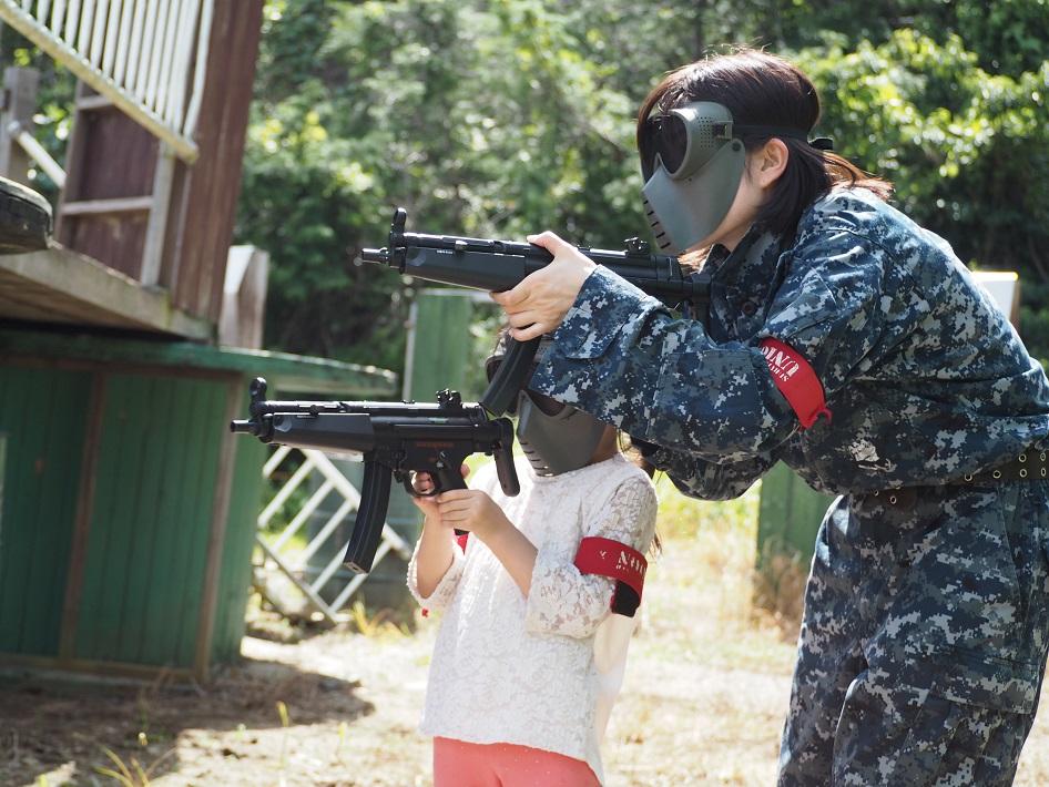 ジュニアガン戦を親子で体験
