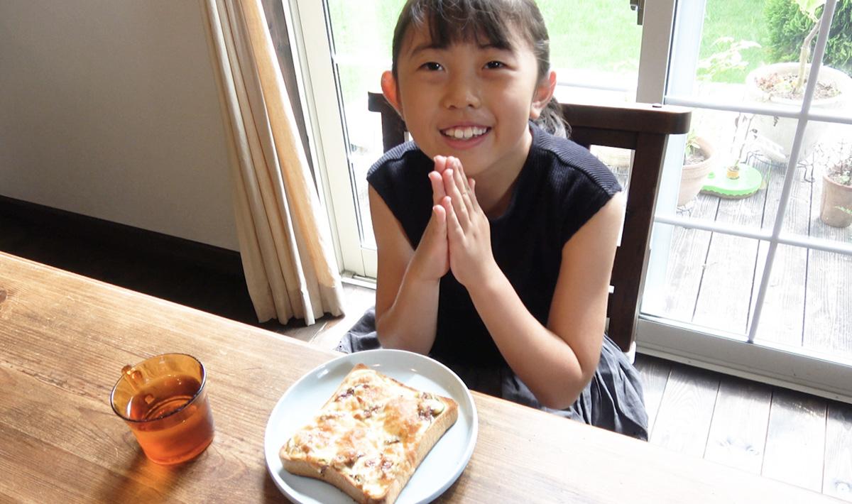 サンマのかば焼き缶ピザトースト